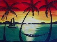 """Rasta Sunset"" Painting Event at Mariachi's Kapaa ..."