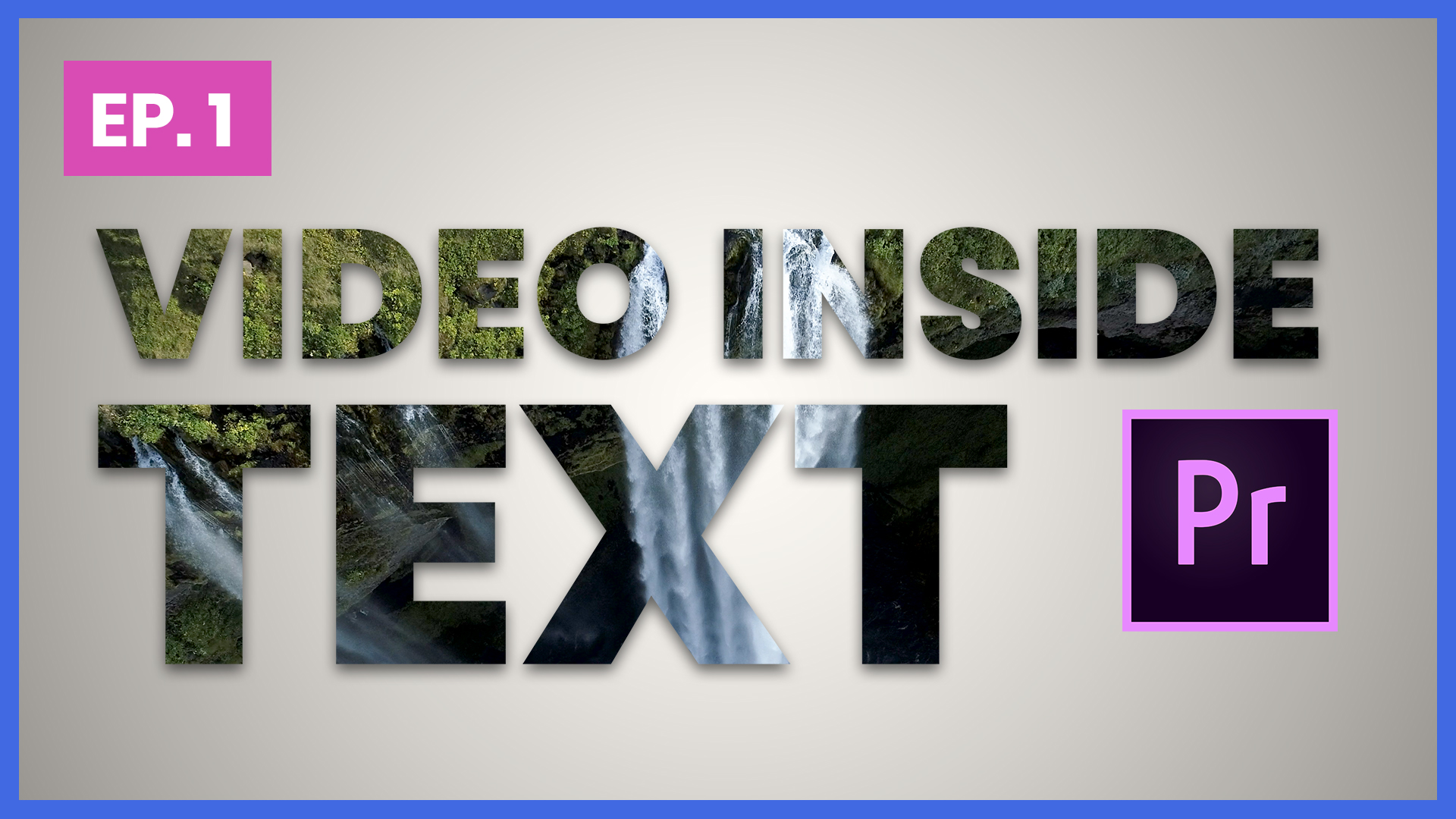 Cc Tutorial How To Place Video Inside Text Adobe Premiere Pro Cc Tutorial