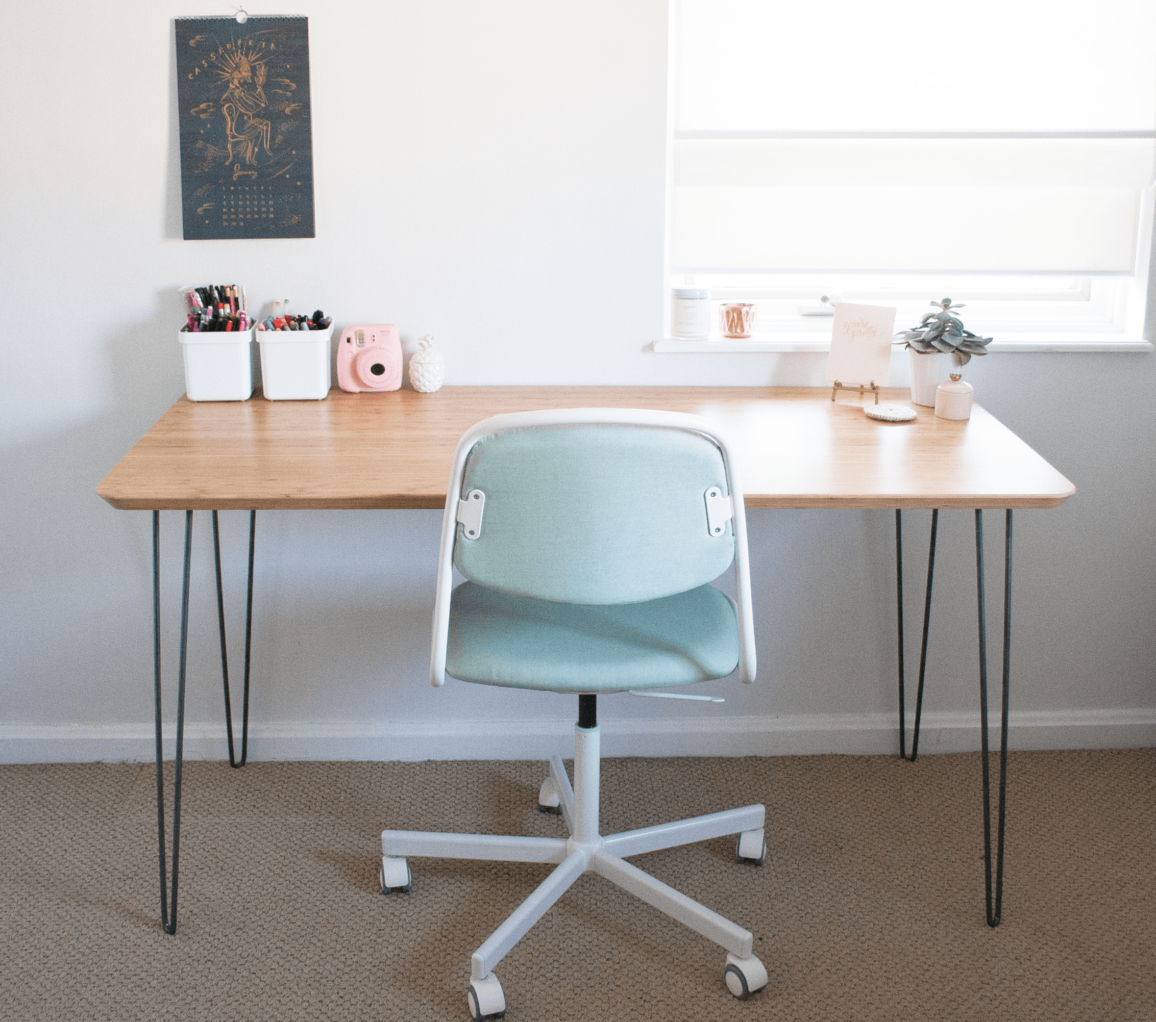 Hairpin Legs Ikea Ikea Hack Mid Century Modern Desk — Sarah Makes Stuff