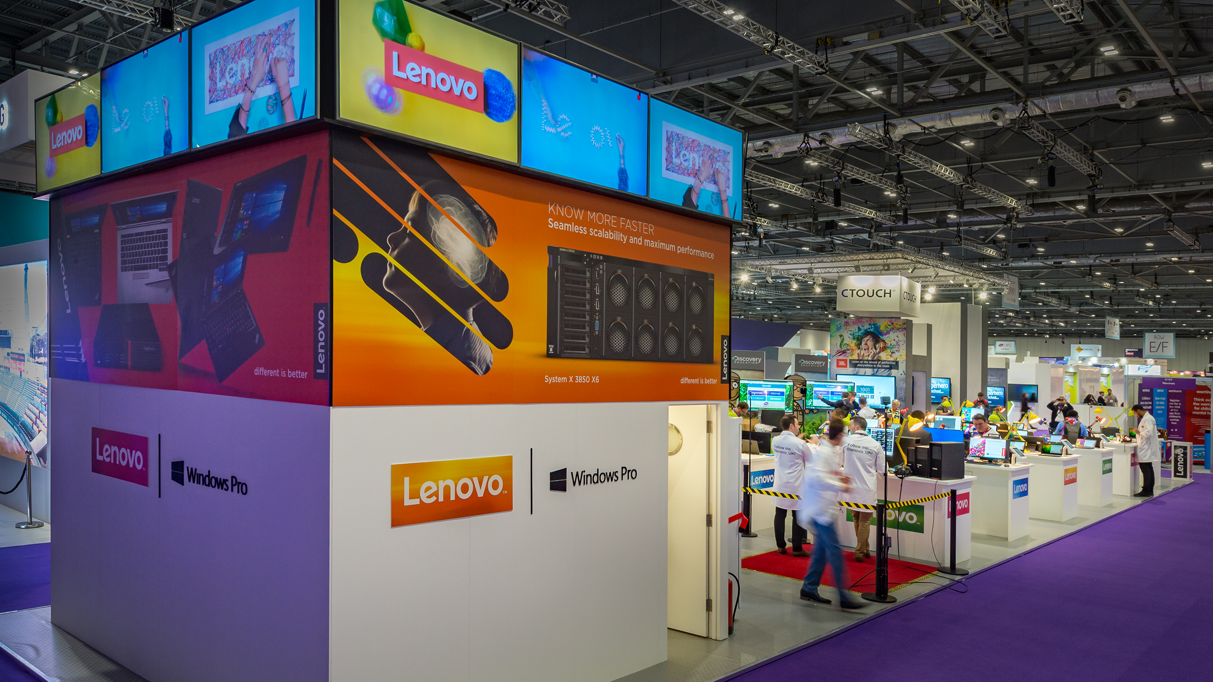 Bett System Lenovo Bett Exhibition Stand In2events Award Winning Uk Agency
