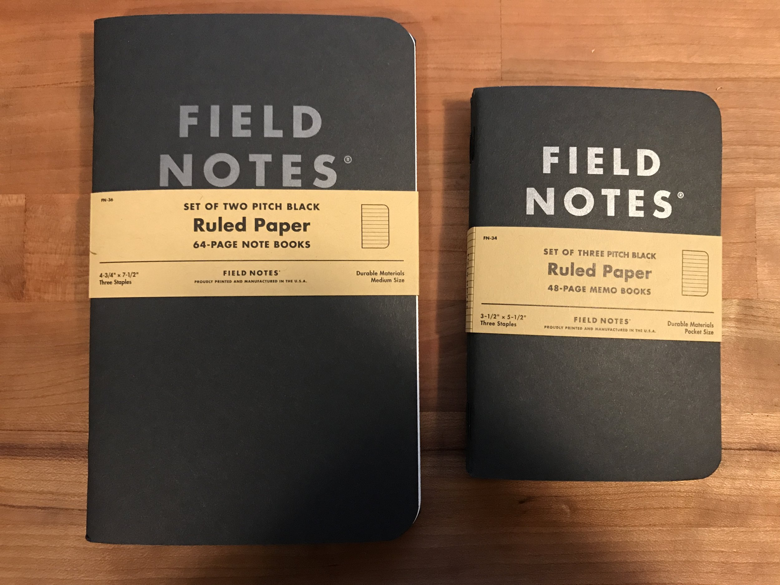 Field Notes Pitch Black Notebook Review \u2014 Lead Fast