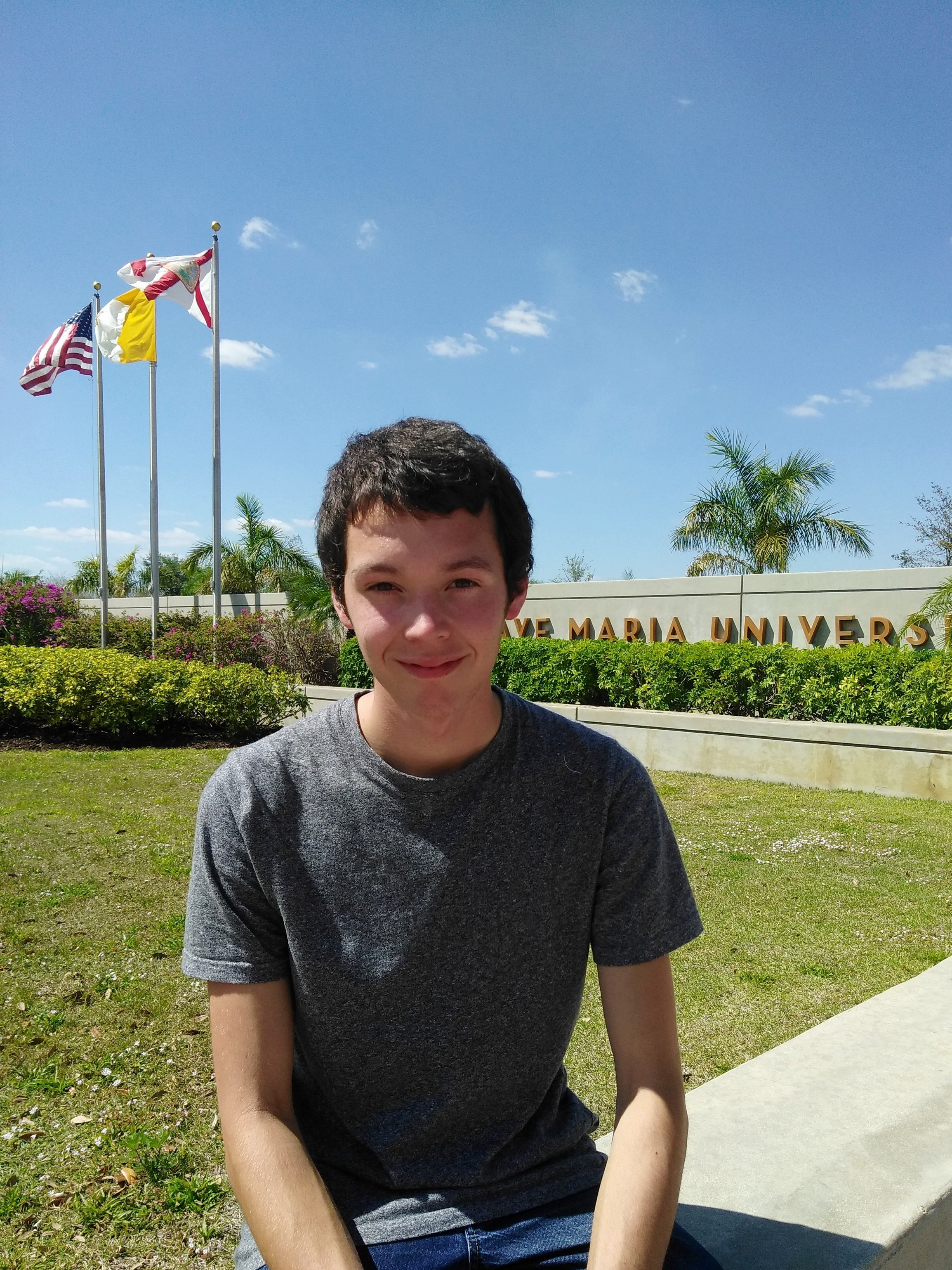 Gabriel Hogan Student Spotlight Gabriel Hogan Ave Maria University Career