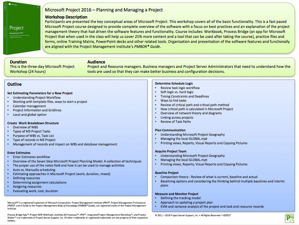 Microsoft Project Training \u2014 PSSI