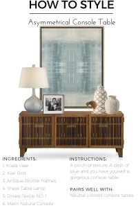 Decorate Console Table - talentneeds.com