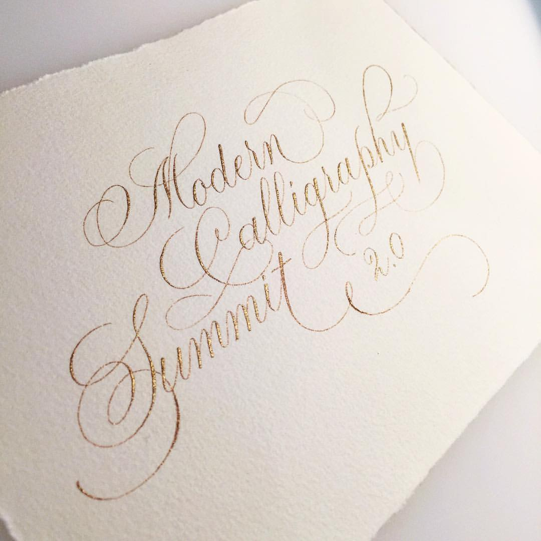 Calligraphy Online Modern Calligraphy Summit 2 Logos Calligraphy Design