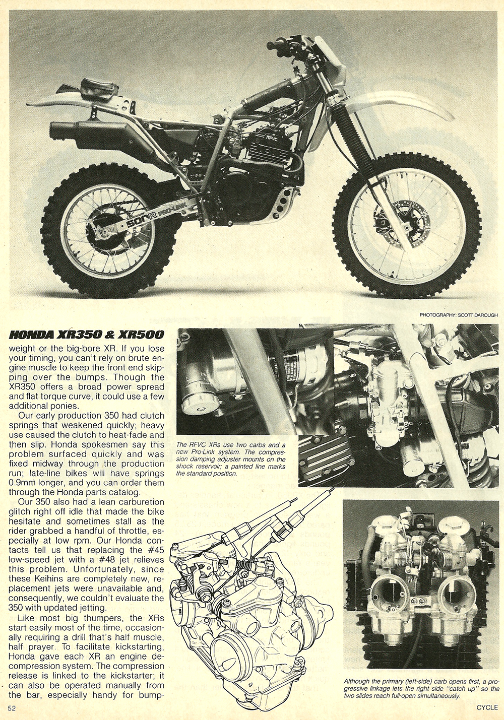 Garage Honda Sion 1983 Honda Xr350r And Xr500r Road Test Ye Olde Cycle Shoppe