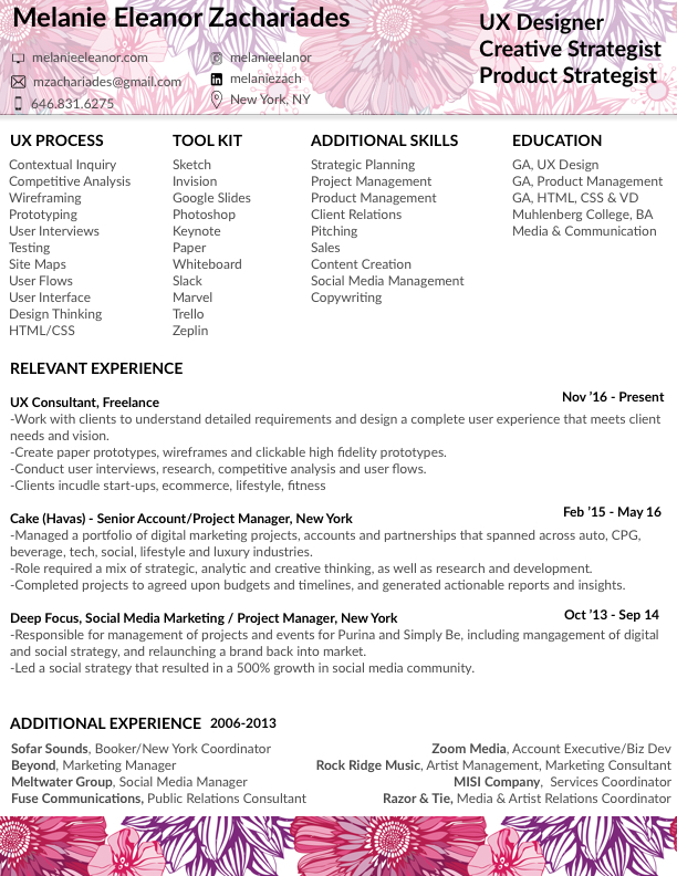 free creative resume cv design template for ui ux designer psd