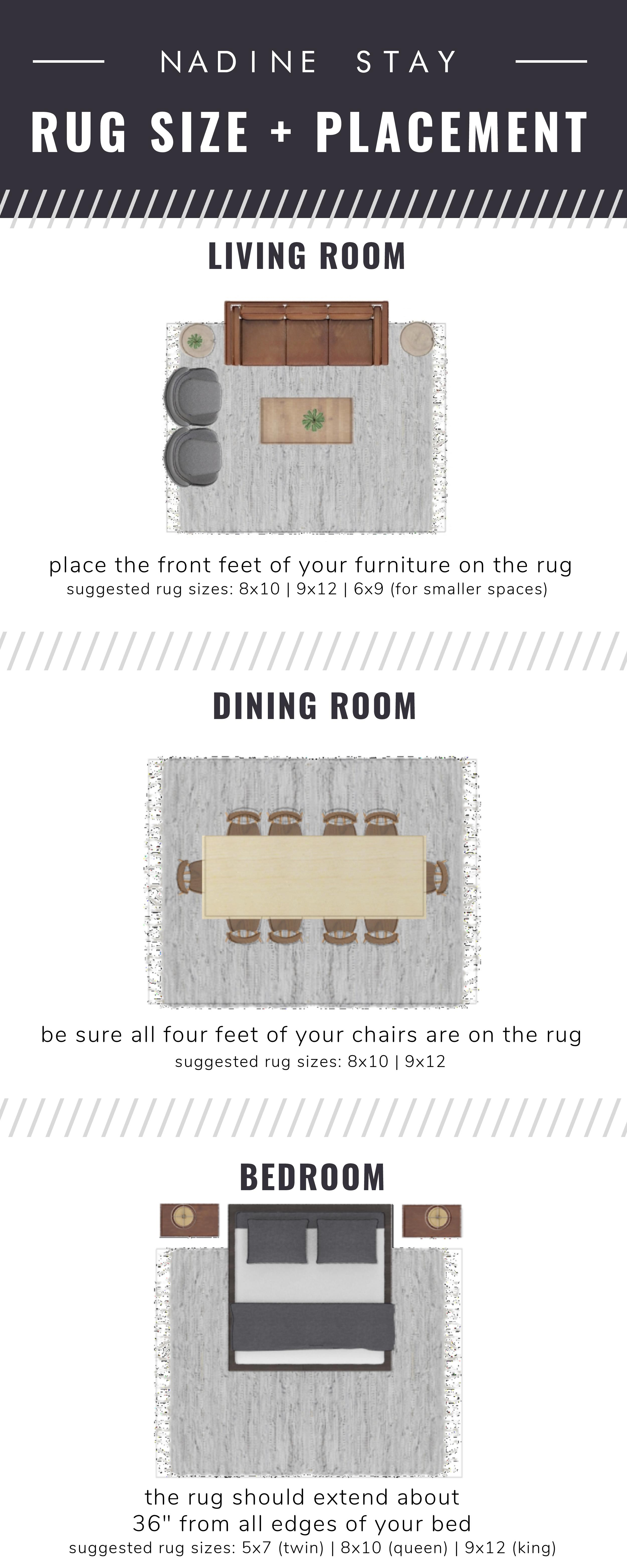 Rug Sizing Rug Size Placement Guide Nadine Stay
