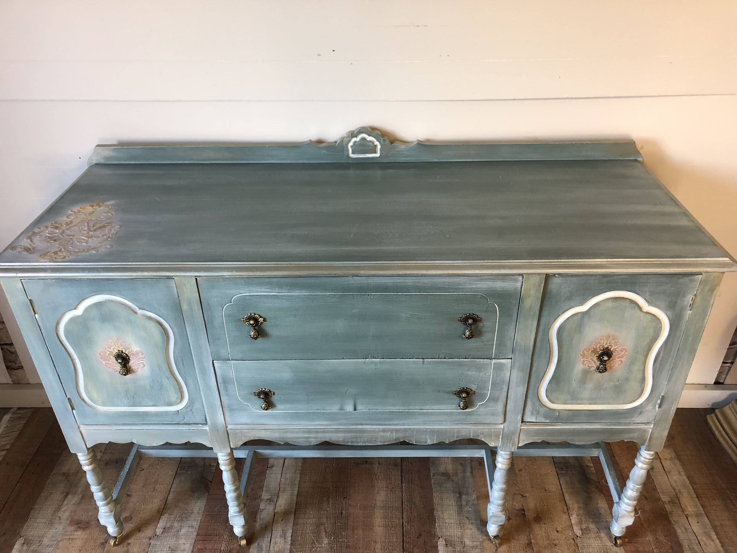 Shabby Chic Vintage Nursery Vintage Buffet Shabby Chic Dinning Room Furniture Living Room Storage Tv Stand Nursery Furniture Refinished Painted Buffet