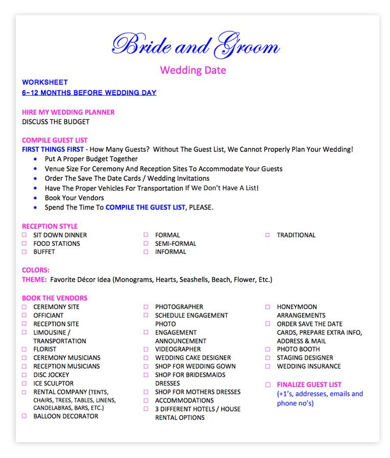 Wedding Checklist \u2014 Delmarva Bridal Show