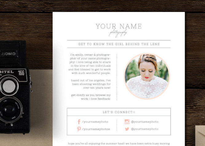 Email Newsletter Template for Photographers  Wedding Planners - Cambria