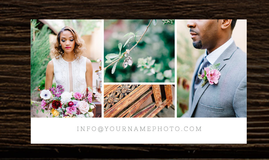 Photography Business Cards - Wedding Photography Business Card