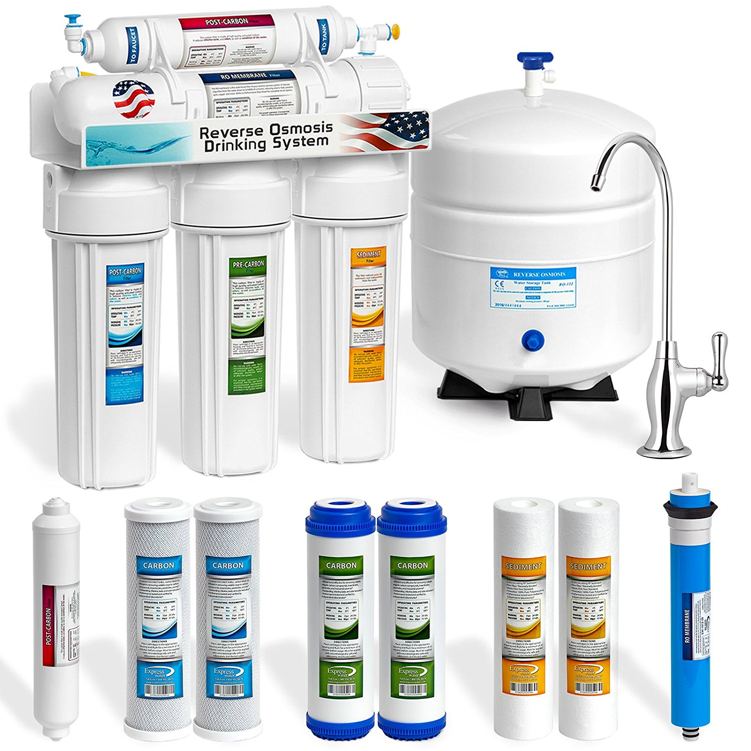 Reverse Osmosis Drinking Water System Product Review Express Water 5 Stage Reverse Osmosis System