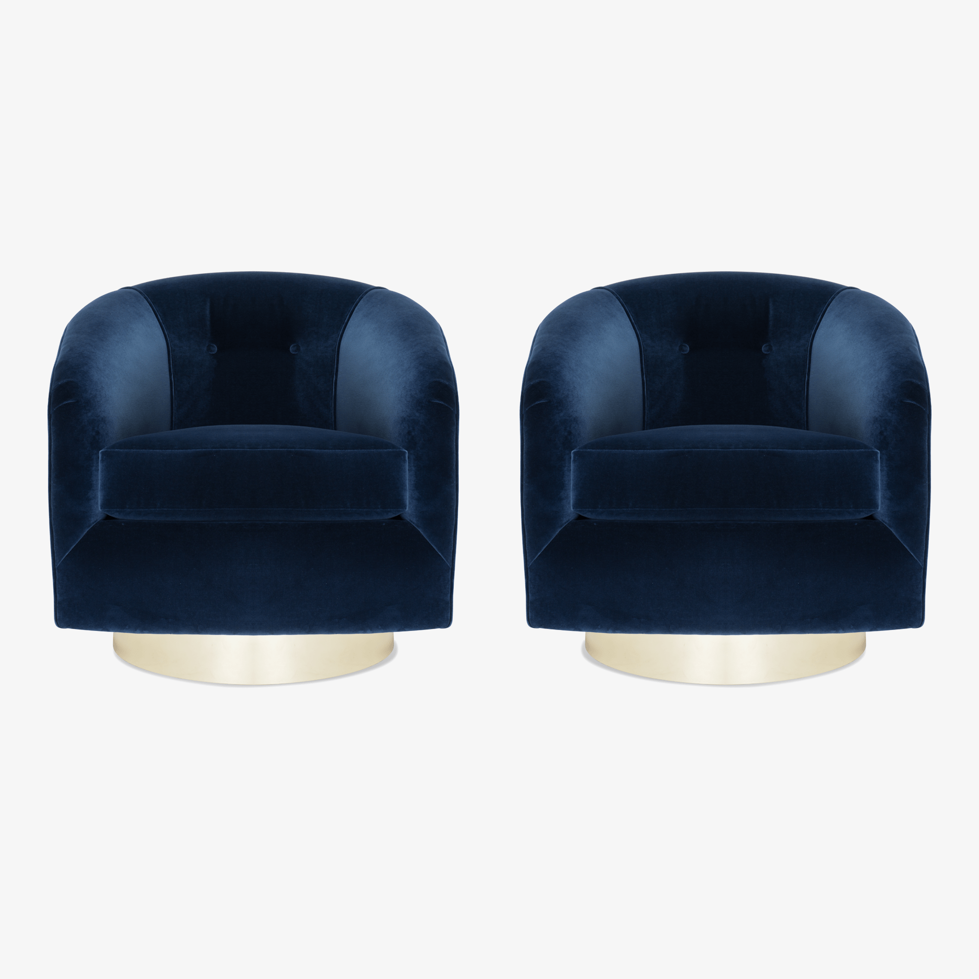 Tub Chairs Swivel Tub Chairs In Navy Brass Montage