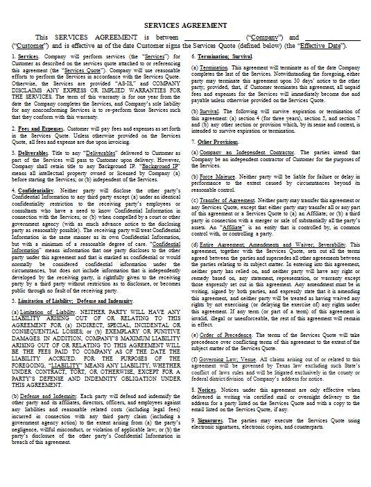 Customer-Facing Agreements \u2014 James Howard