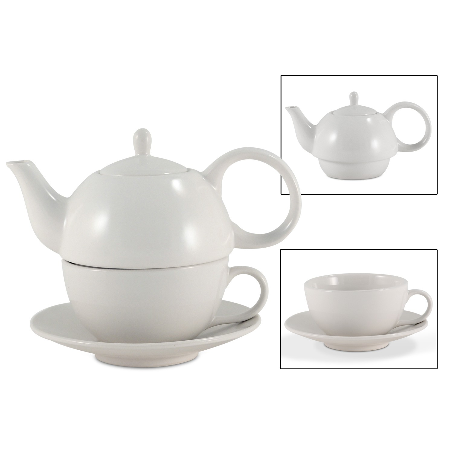 Teapot With Cup Ceramic Tea For One Set