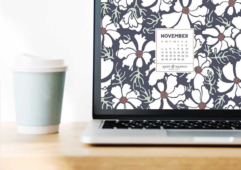Free Digital Wallpaper November 2018 Calendar \u2014 Root  Branch Paper Co
