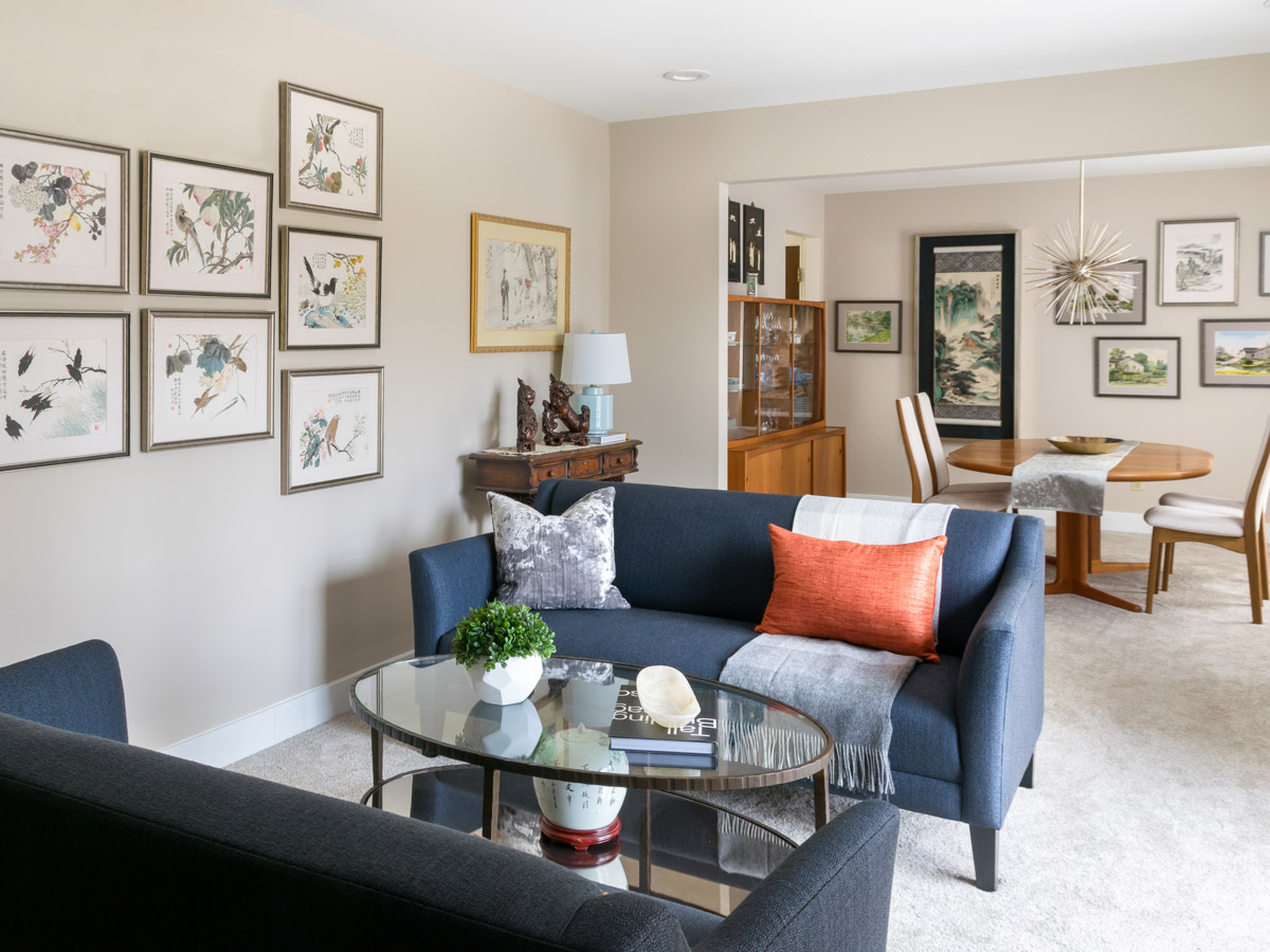 Living Room Spaces Watercolor Collection Influences Curated Living And Dining Room