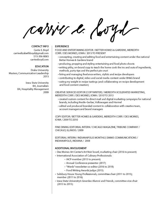 resume \u2014 carrie e boyd