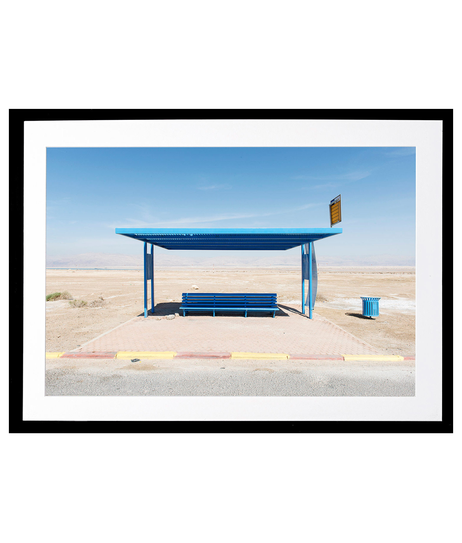 Bäder Modern Claudio Bader Dead Sea Station Contemporary Photography Framed Print