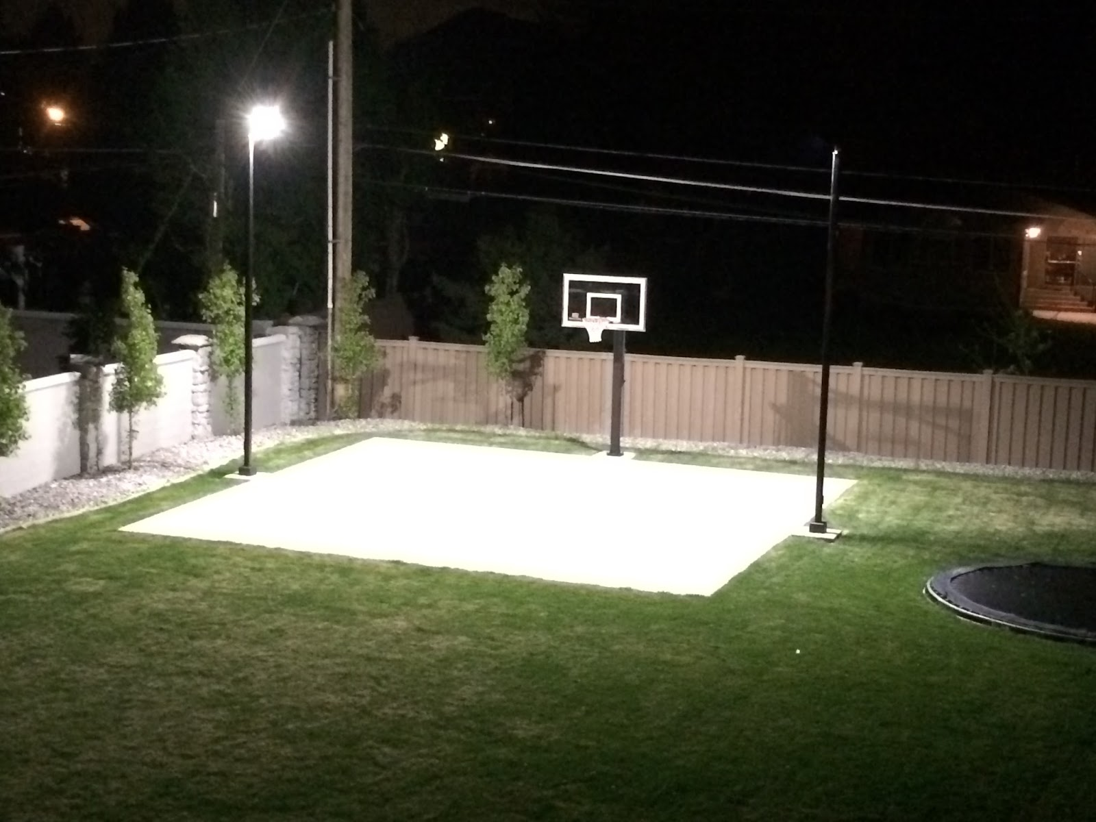 Parking Lot Lighting Pole #5776: Home Backyard Basketball Court Lighting - Step By