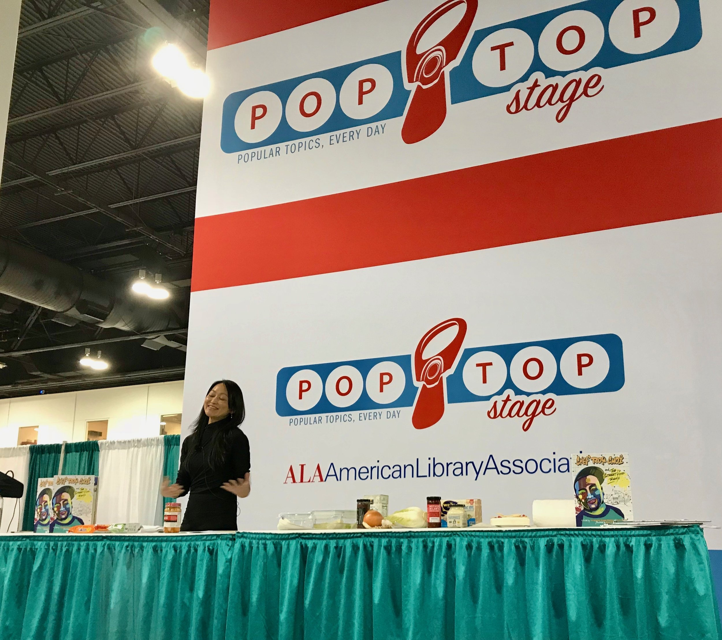 American Library Association American Library Association Midwinter Poptop Stage Food