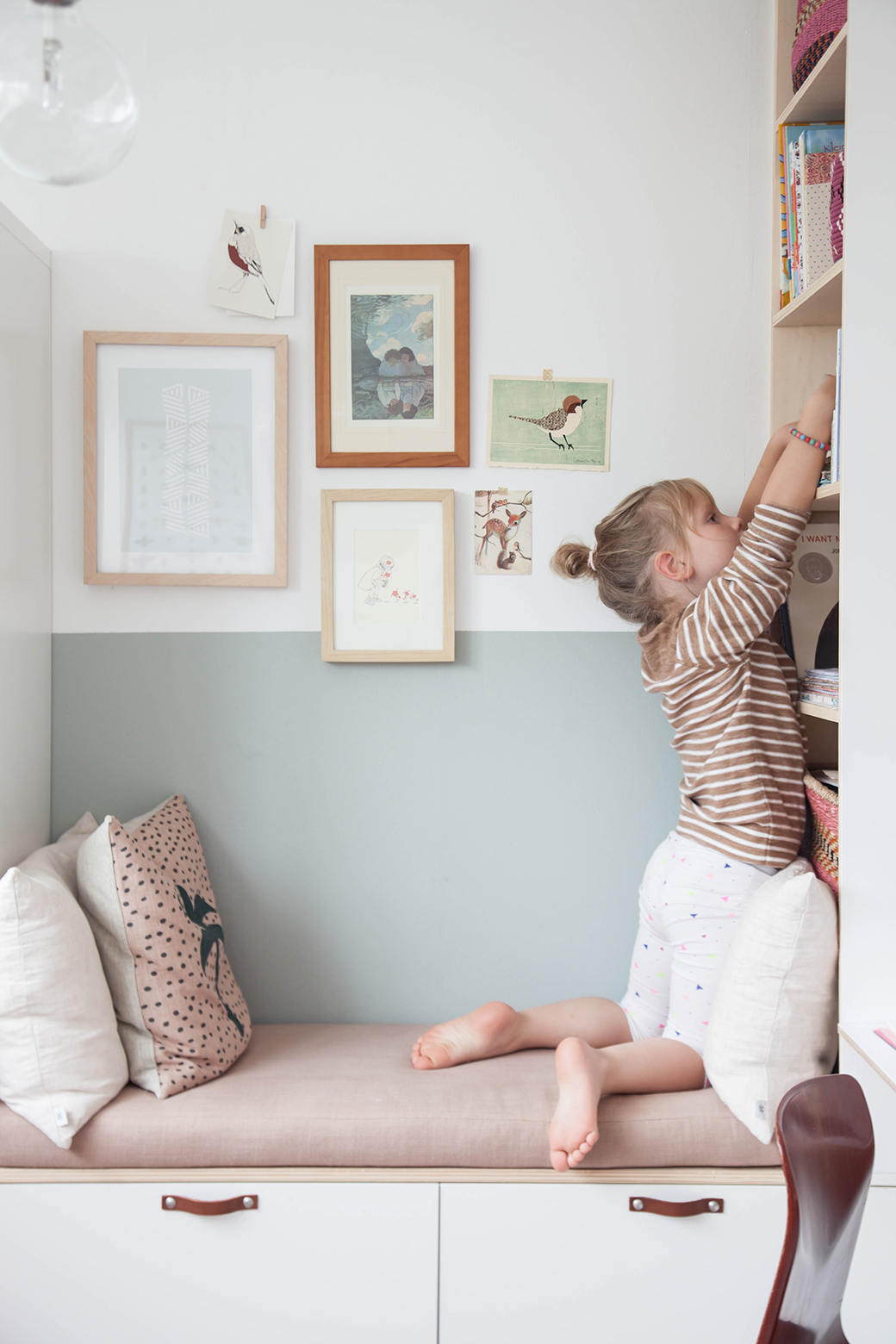 Little Couch For Bedroom Ikea Wardrobe Hack In Charming Little Girl S Bedroom Decor8