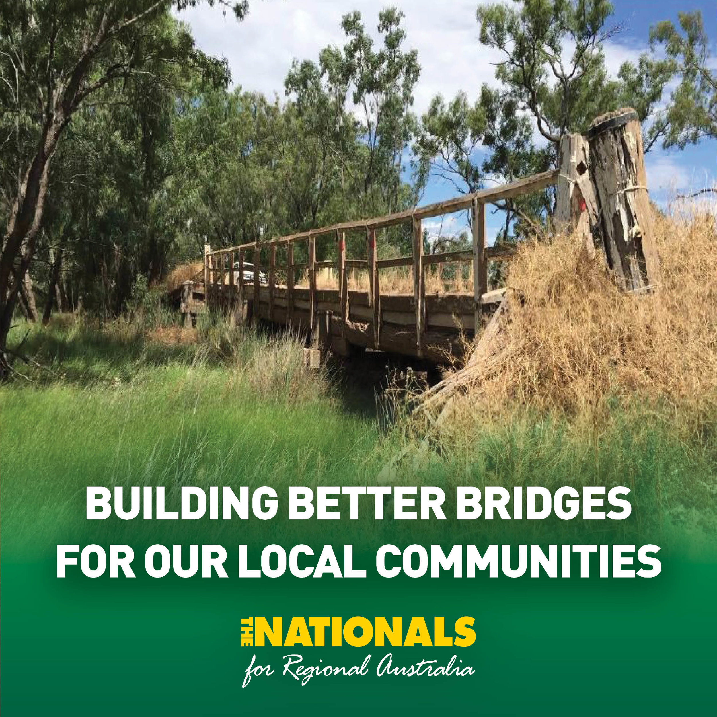 Regional Australia Stronger And Safer Bridges For Regional Australia Michael Mccormack