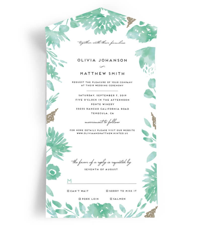 Minted Wedding Invitations Trendy Bride Fine Art