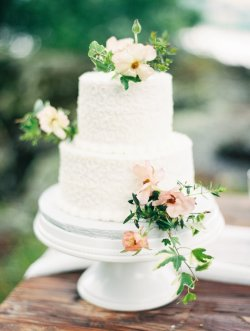 Small Of Two Tier Wedding Cake