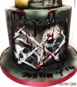 Small Of Walking Dead Cake