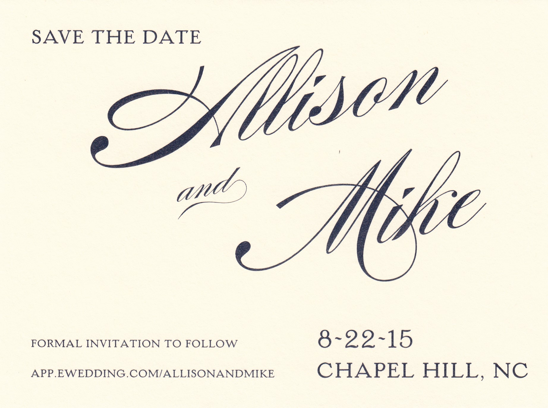 Save the Dates \u2014 Reaves Engraving