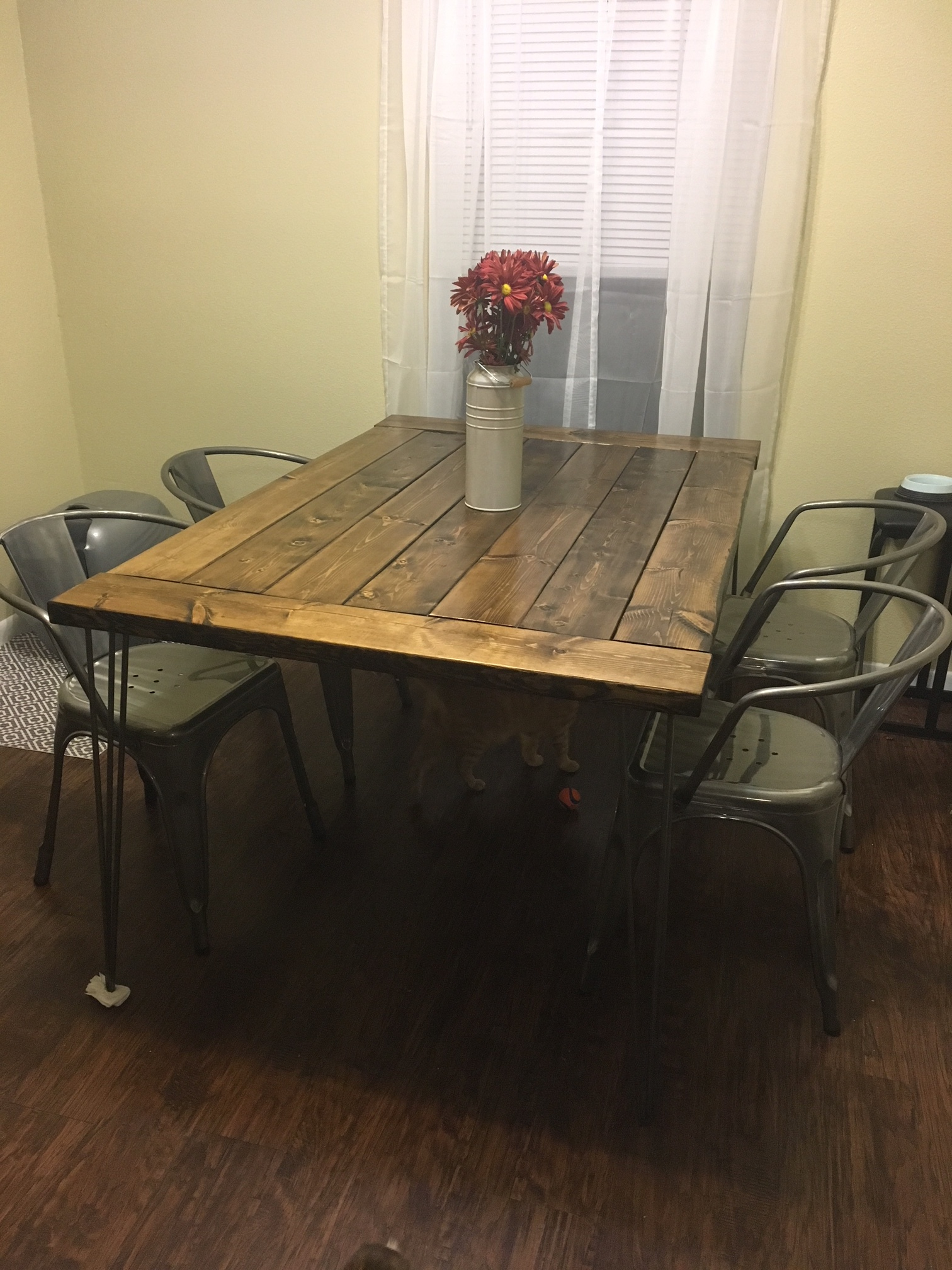 How To Project 1 Kitchen Table With Hairpin Legs