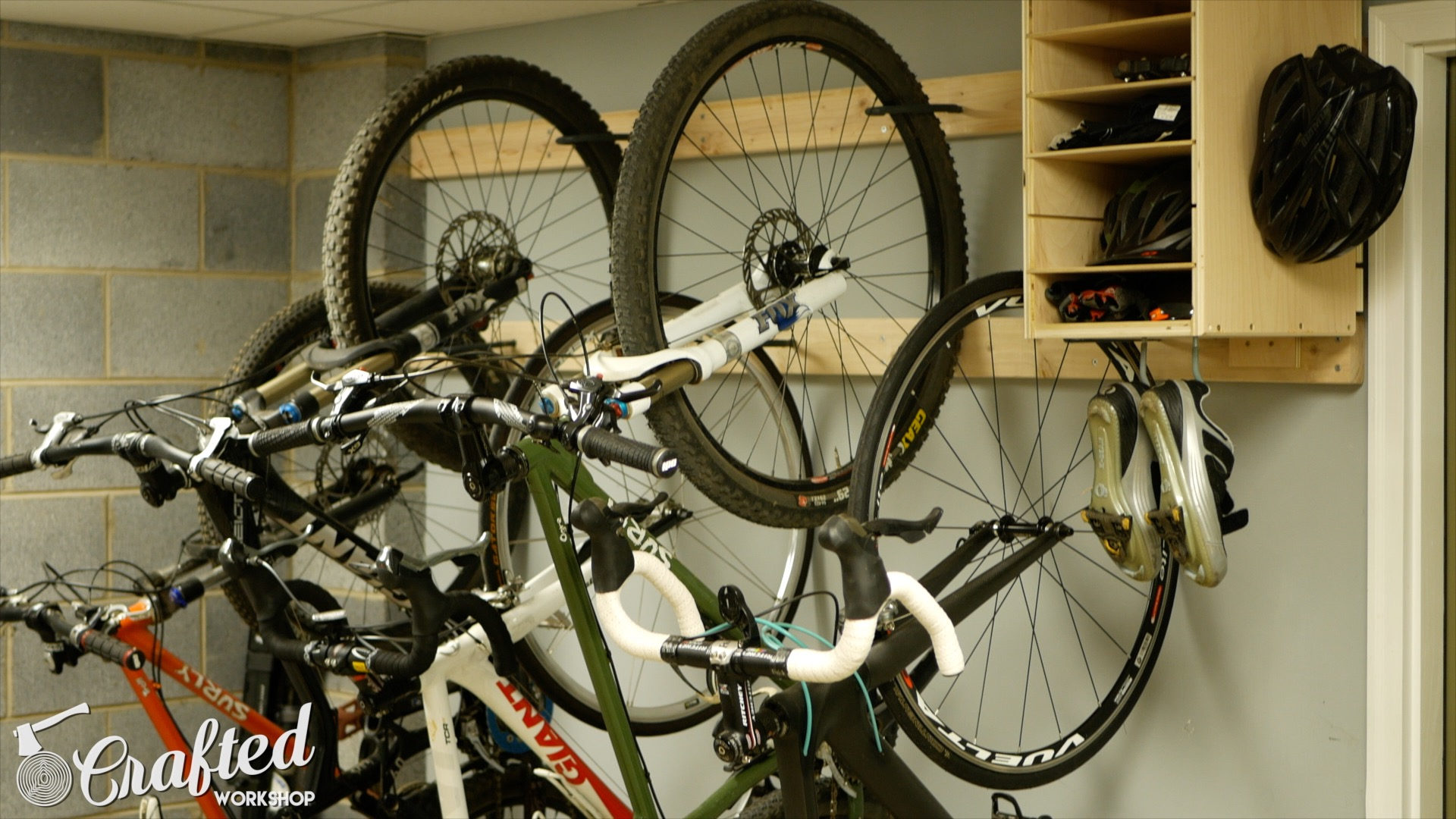 Diy Bike Rack For 20 Bike Storage Stand Cabinet For
