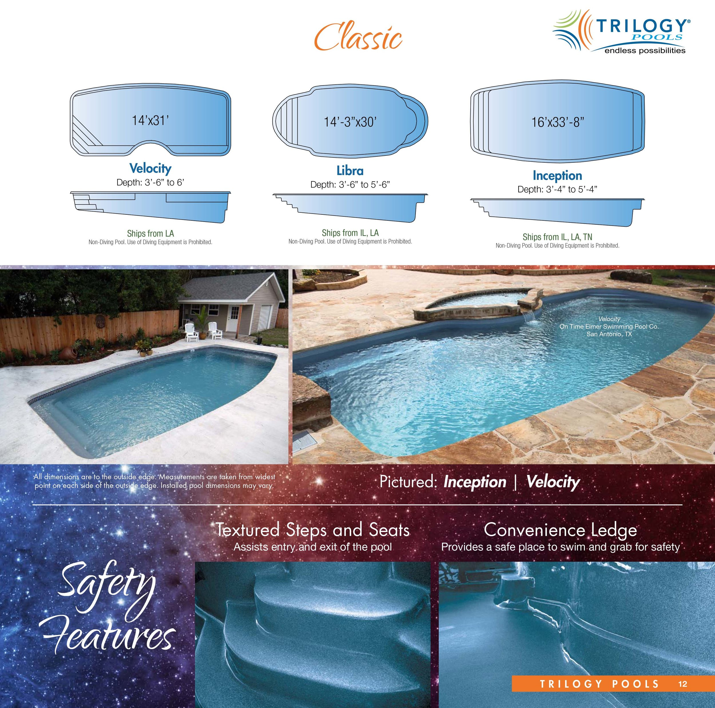 Jacuzzi Pool Dimensions Trilogy Pools And Spas Gary S Pool And Patio