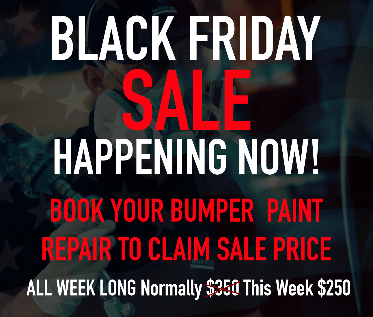 Black Week Sale Green Reconditioning Black Friday Cyber Monday Week Long Sale