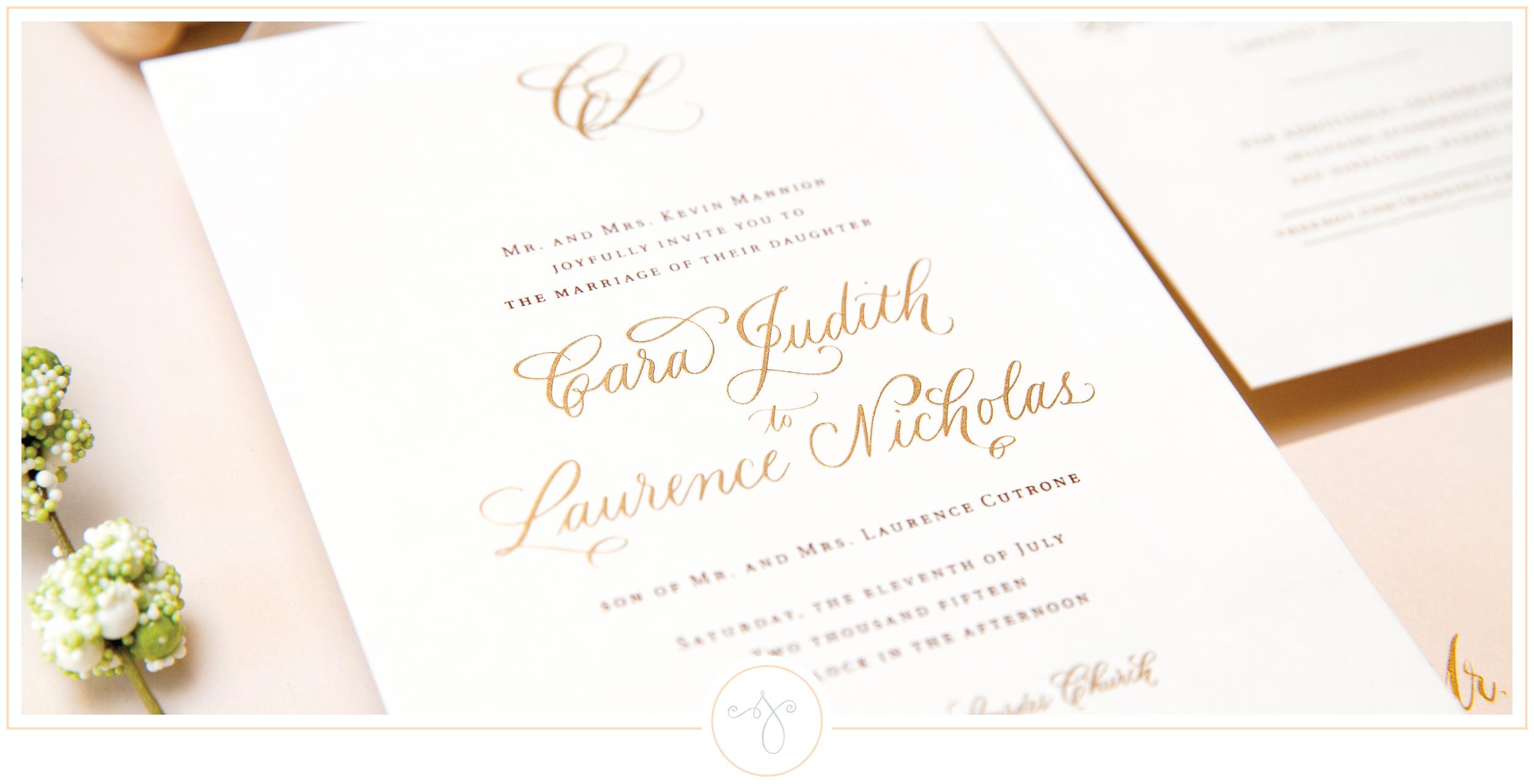 Sincerely Jackie Long Island Wedding Invitations