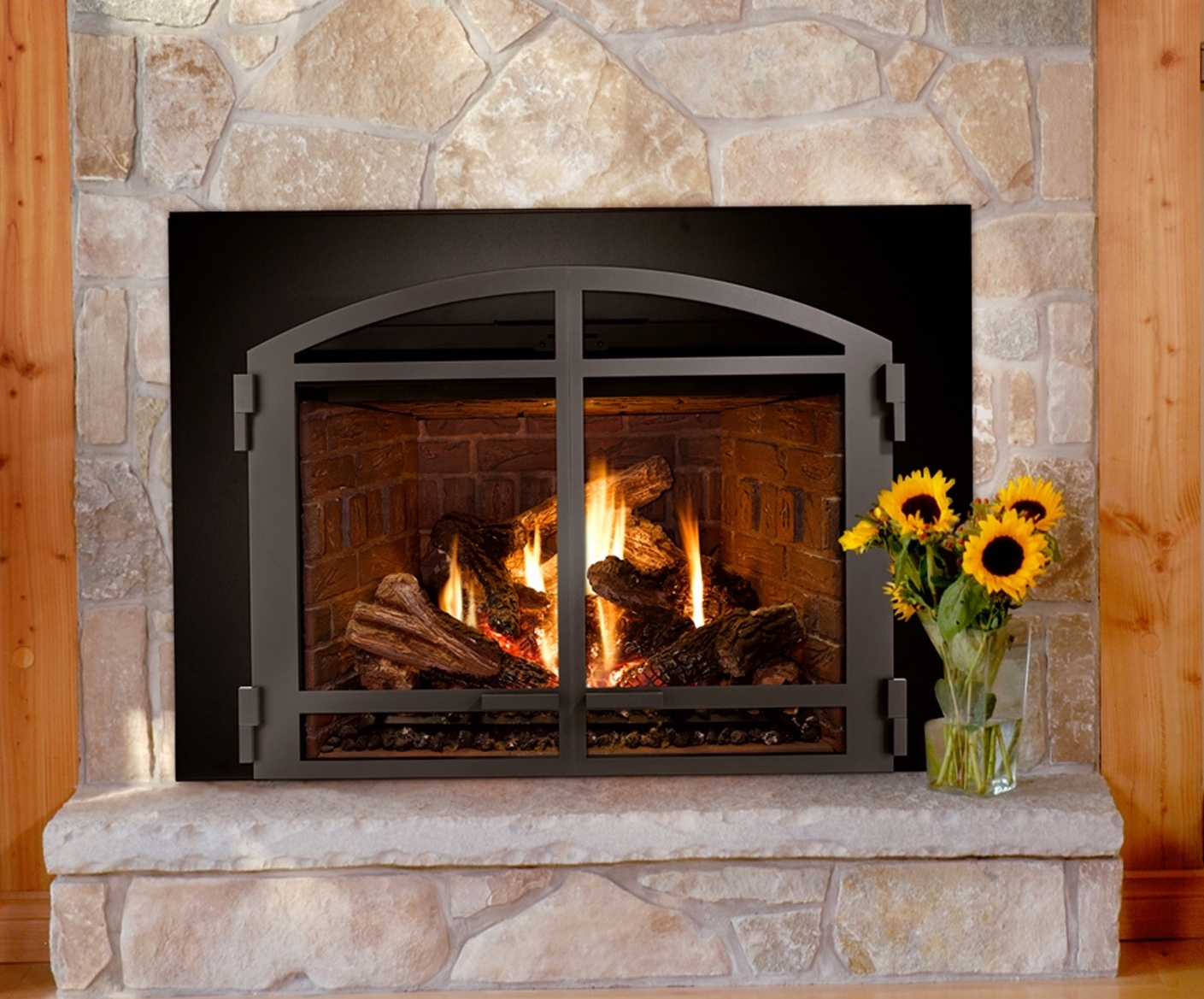 Gas Inserts For Fireplaces American Eagle Fireplace And Playsets