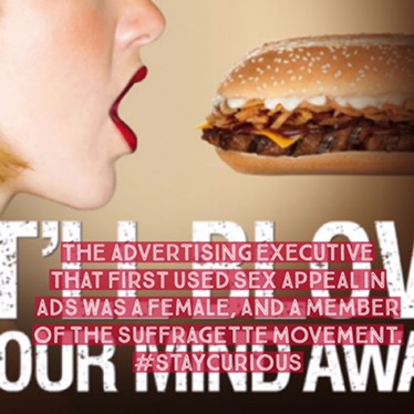 The advertising executive that first used sex appeal in ads was a