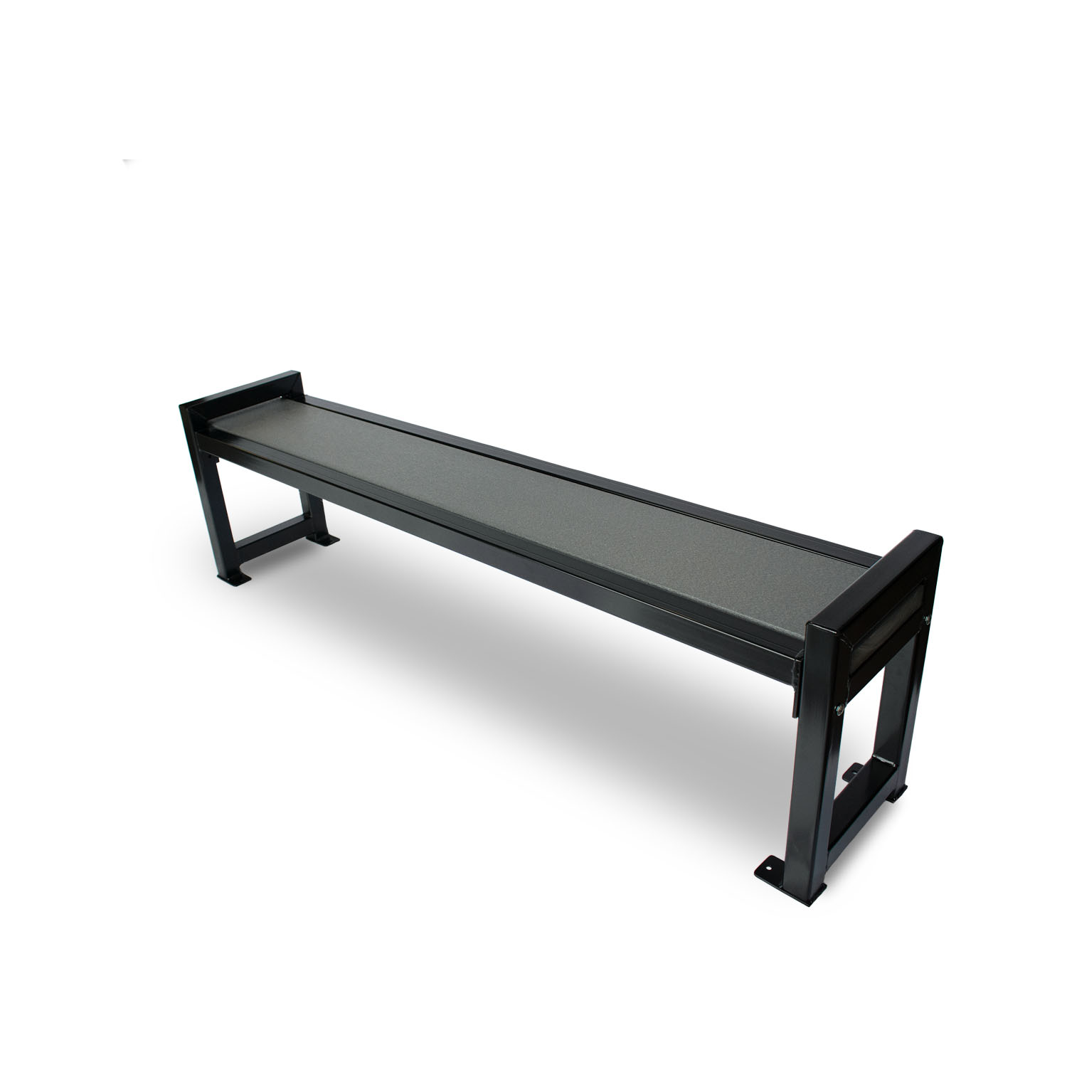 Black Bench Modern Backless Bench