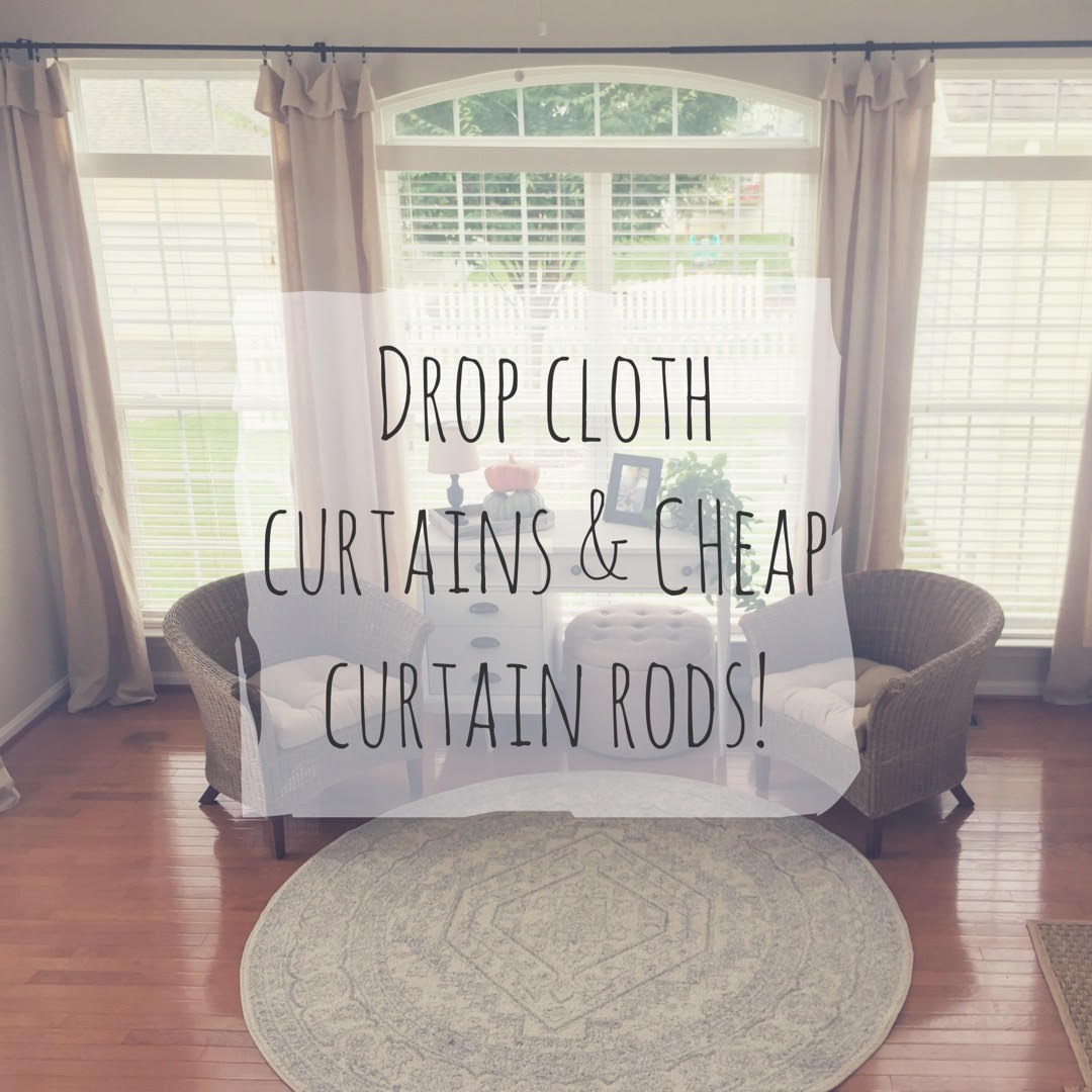Where Can I Buy Cheap Curtains Drop Cloth Curtains And Cheap Curtain Rods Minimalish Farmhouse
