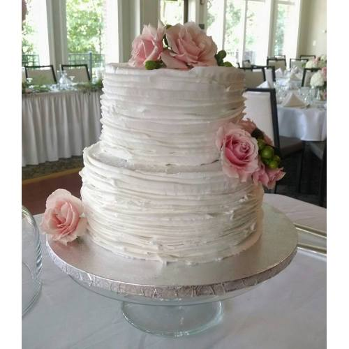 Medium Crop Of Two Tier Wedding Cake
