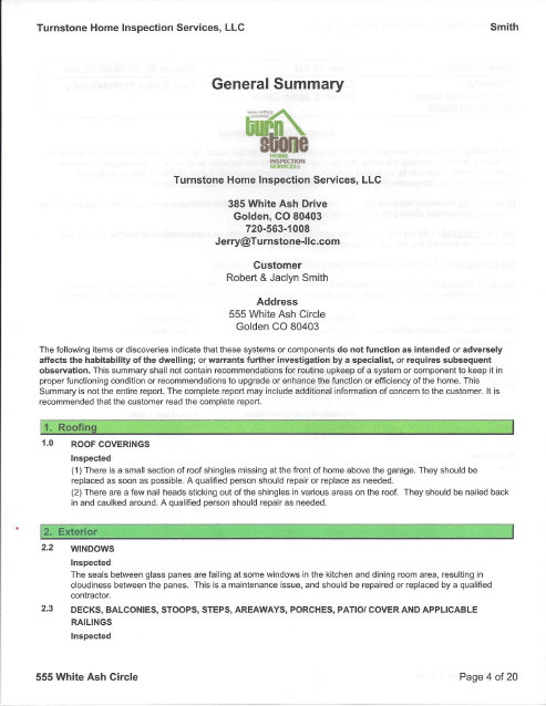 Sample Report \u2014 Turnstone Home Inspection Services, LLC