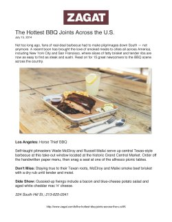 Splendid Horse Thief Bbq Included Hottest Bbq Joints Across Horse Thief Bbq Included Hottest Bbq Joints Across Zagat Los Angeles 2018 Zagat Los Angeles Brunch