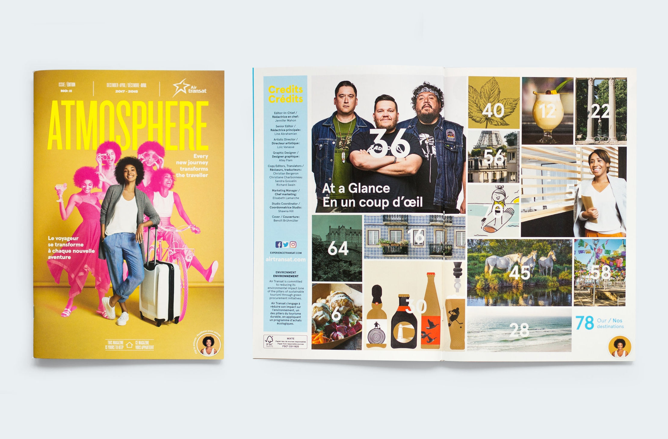 Transat Design Magazine Layout Air Transat S Atmosphere 2 Alley Flam