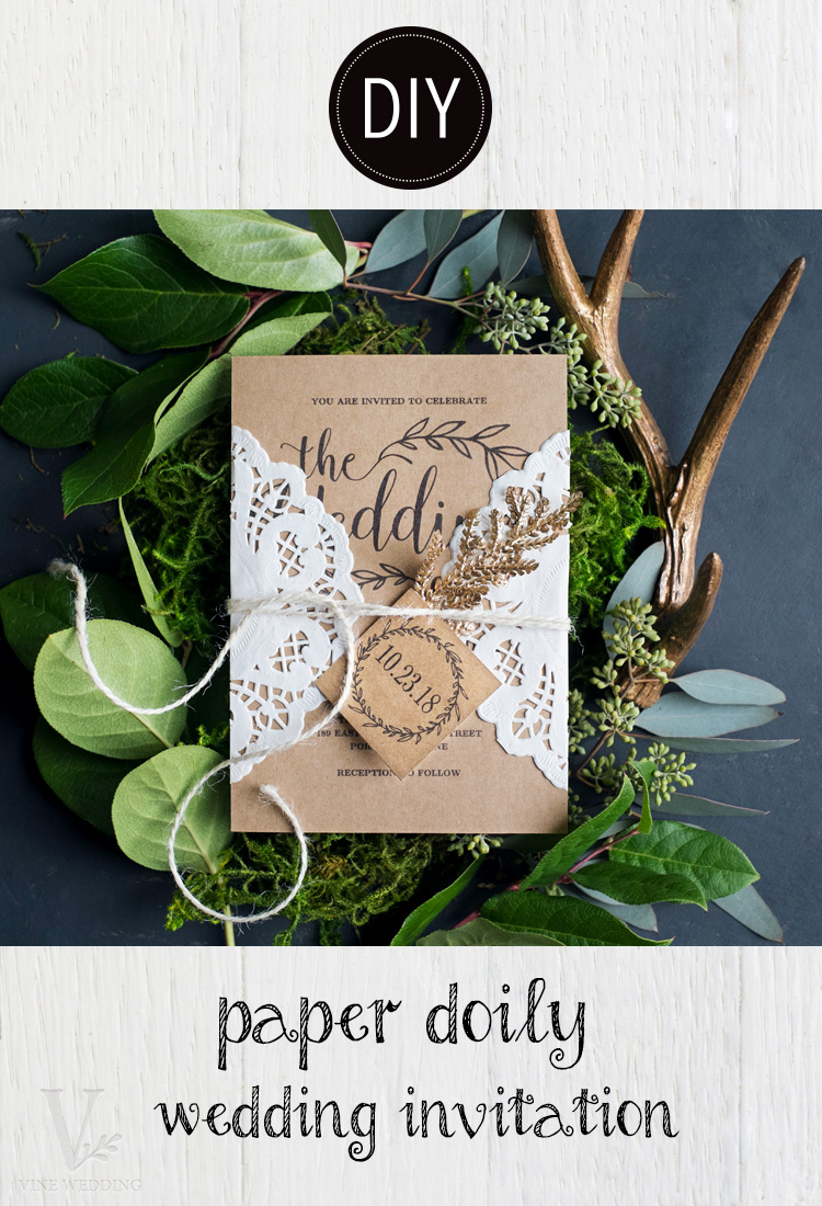 Diy Wedding Invitations With Photo Diy Paper Doily Wedding Invitation Vine Wedding