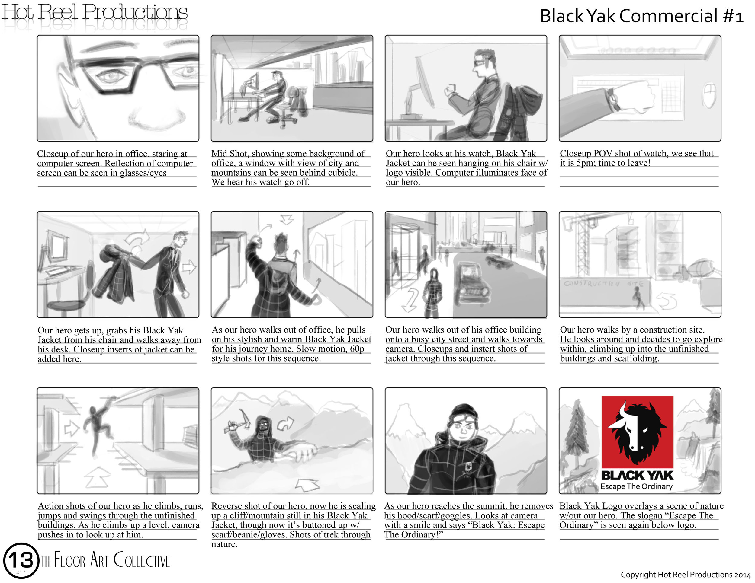 Storyboards \u2014 Murphy Game Art - commercial storyboards