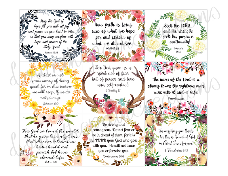 45 Printable Bible Verse Cards, 3\