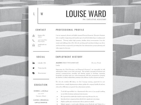 The Career Improvement Club Professional CV Templates Creative