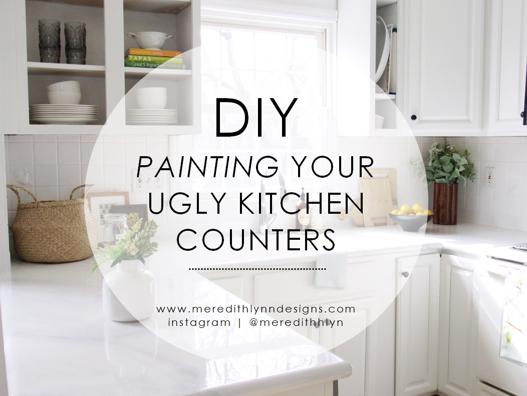 Painted Marble Countertops Diy Painting My Kitchen Countertops Meredith Lynn Designs